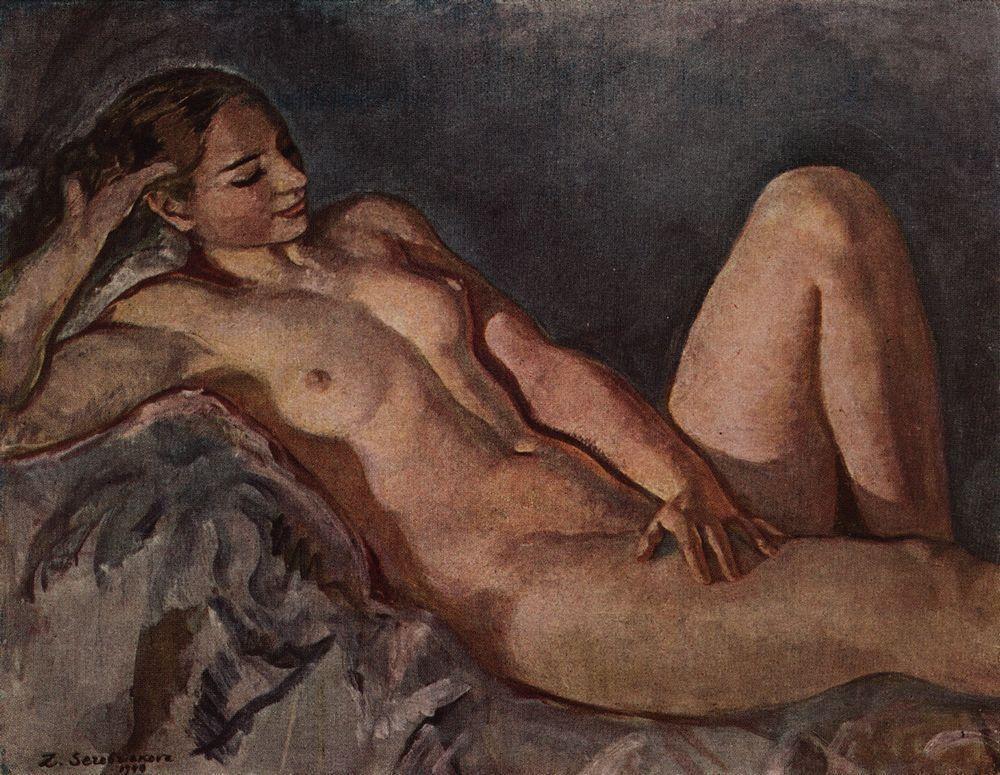 The Model, based on elbow - Zinaida Serebriakova