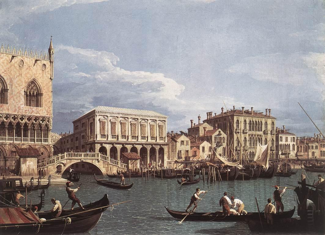The Molo and the Riva degli Schiavoni from the St. Mark's Basin - Canaletto