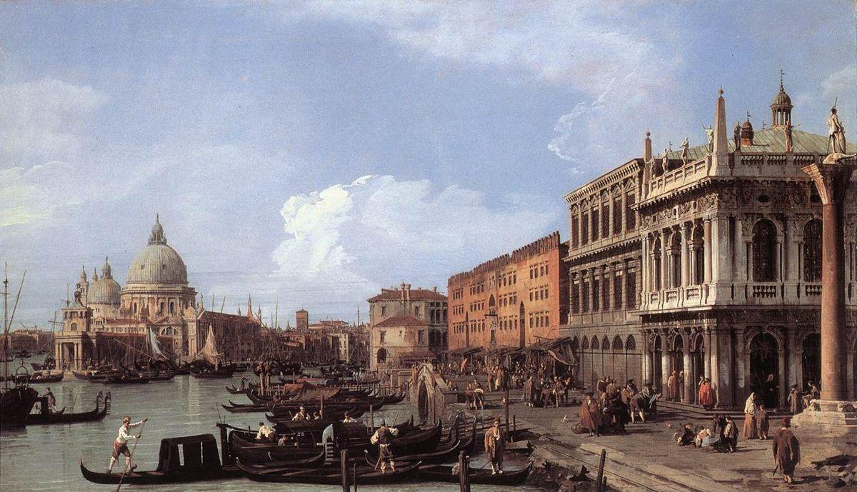 The Molo Looking West - Canaletto