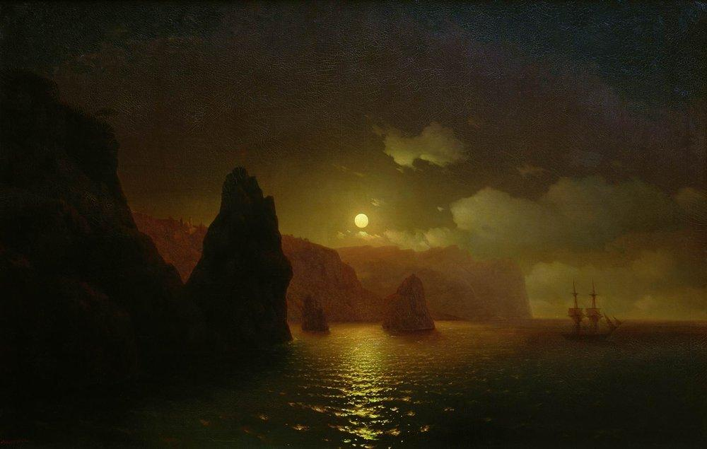 The monastery of George. Cape Fiolent - Ivan Aivazovsky