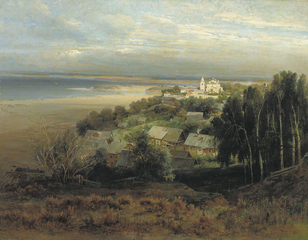 The Monastery of the Caves Near Nizhny Novgorod - Aleksey Savrasov