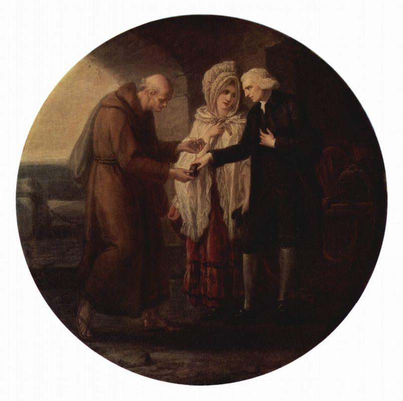 The monk from Calais - Angelica Kauffman