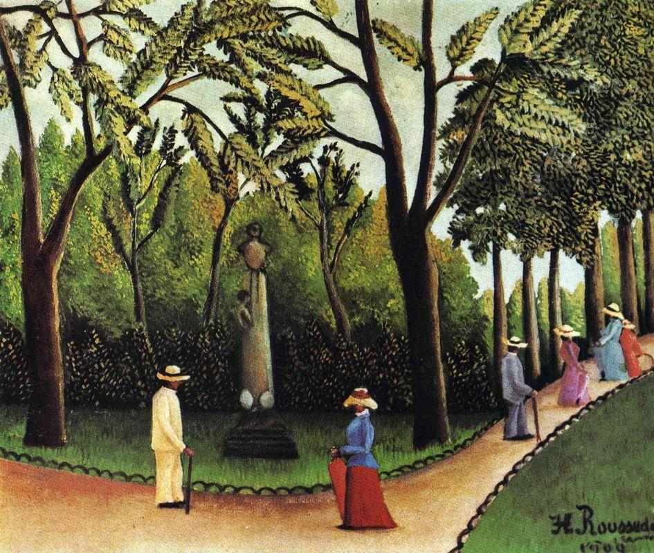 The Monument to Chopin in the Luxembourg Gardens - Henri Rousseau