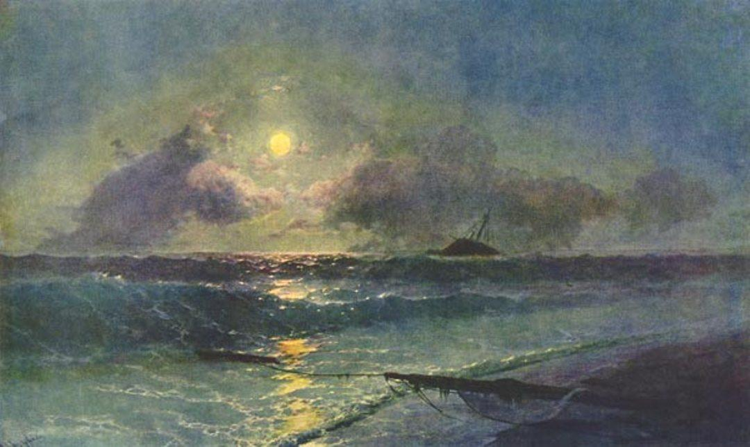 The Moonrize in Feodosiya - Ivan Aivazovsky