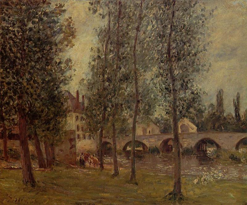 The Moret Bridge - Camille Pissarro