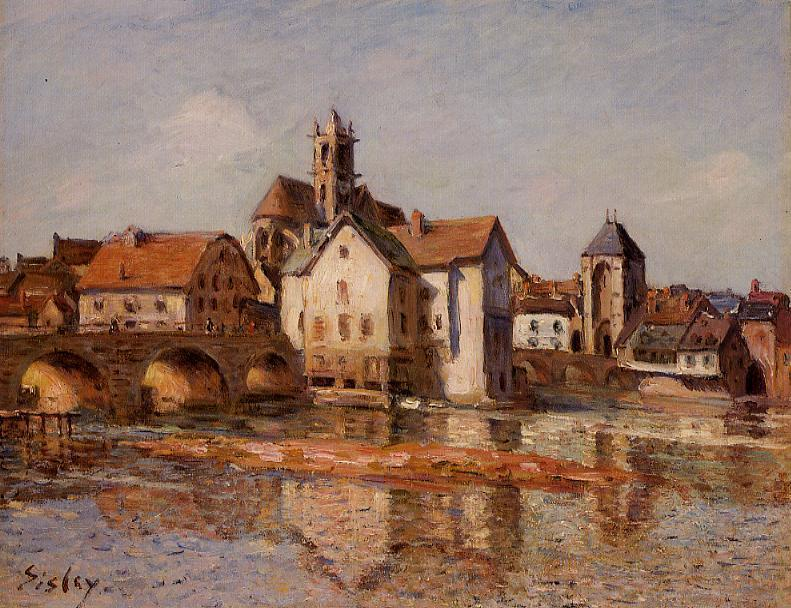 The Moret Bridge - Alfred Sisley