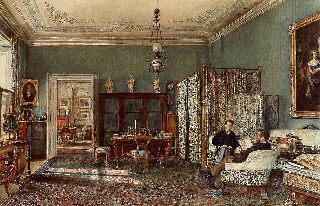 The Morning Room of the Palais Lanckoronski, Vienna - Rudolf von Alt