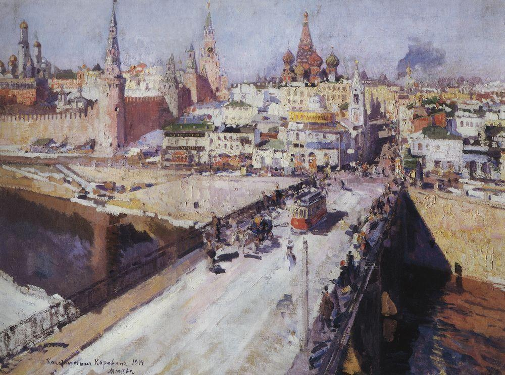The Moskva River Bridge - Konstantin Korovin