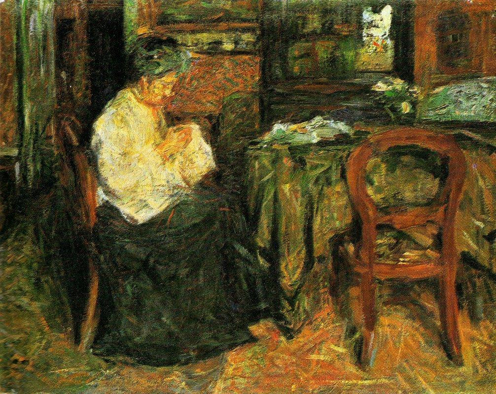 The mother sews - Mario Sironi
