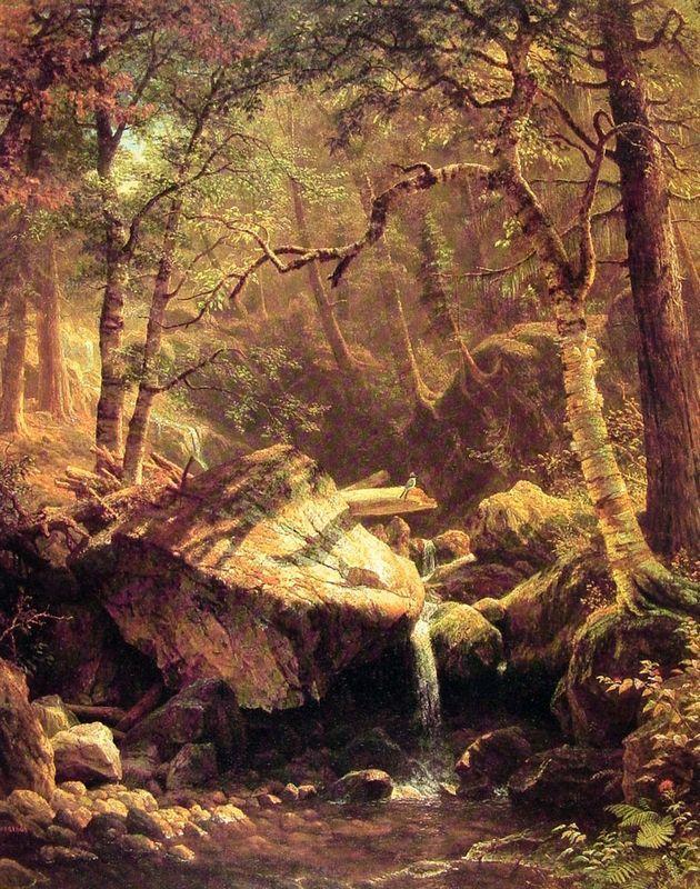 The Mountain Brook - Albert Bierstadt