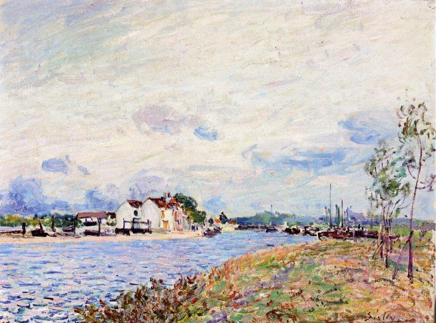 The Mouth of the Loing at Saint Mammes - Alfred Sisley