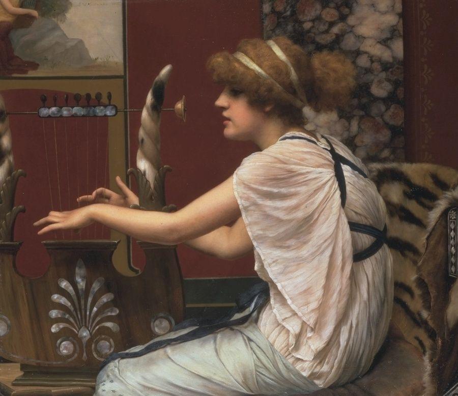 The Muse Erato at her Lyre - John William Godward