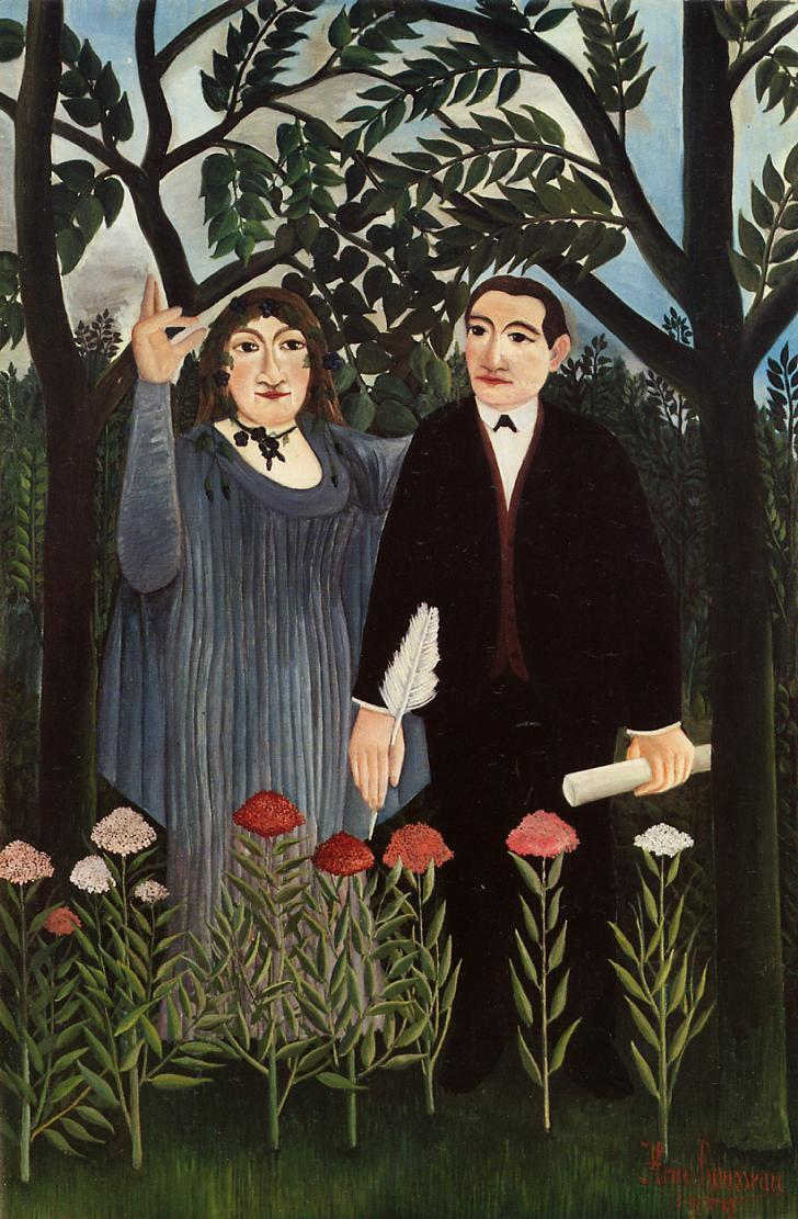 The Muse Inspiring the Poet  - Henri Rousseau