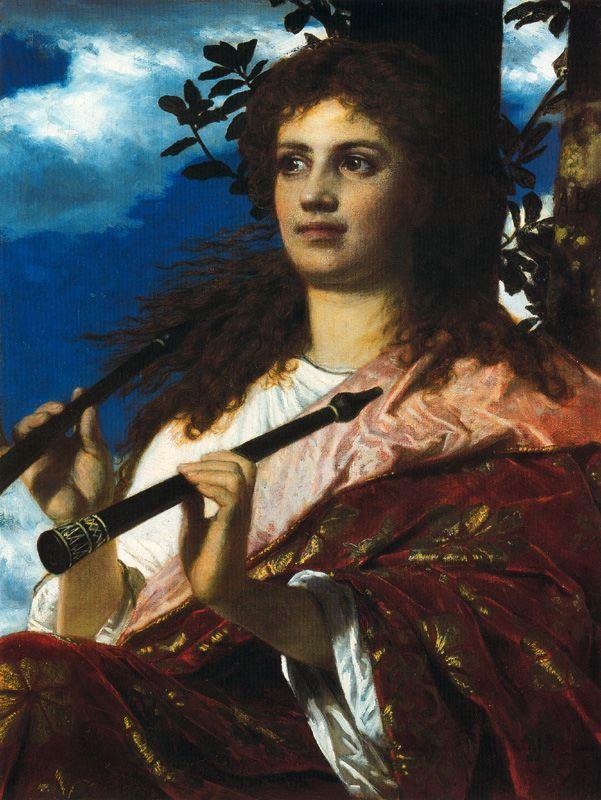 The Muse of Anacreon - Arnold Bocklin