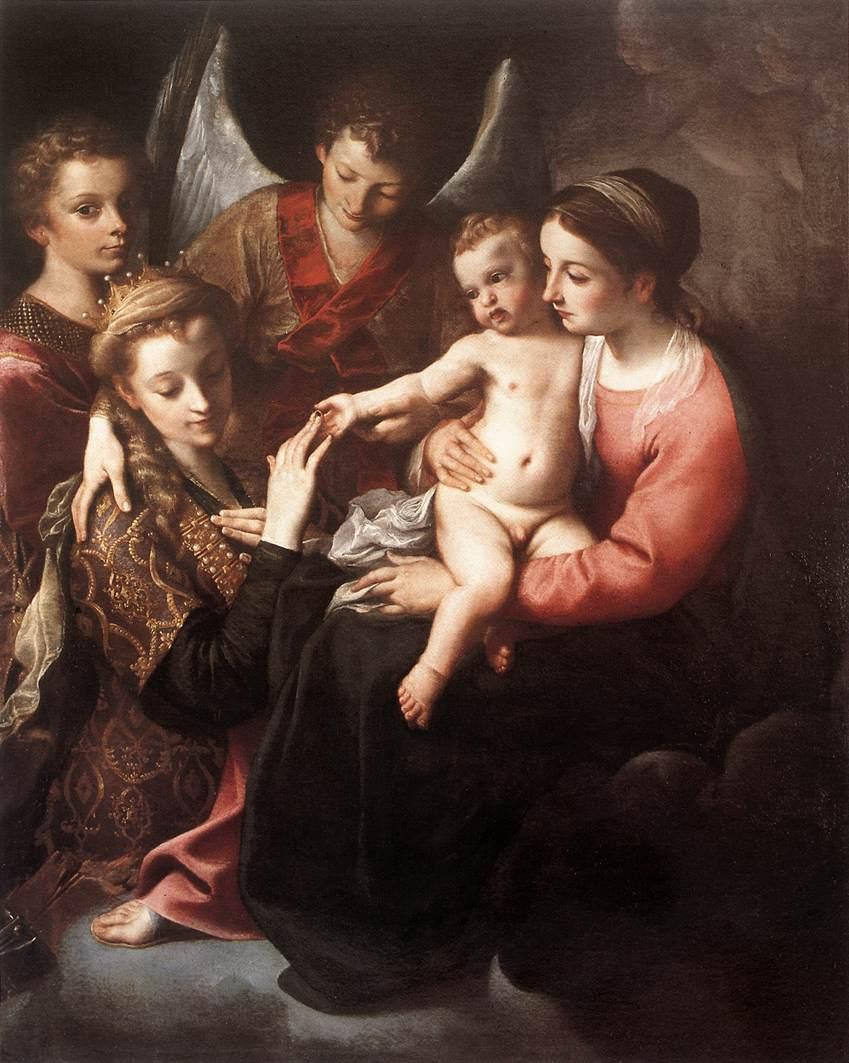 The Mystic Marriage of St Catherine - Annibale Carracci