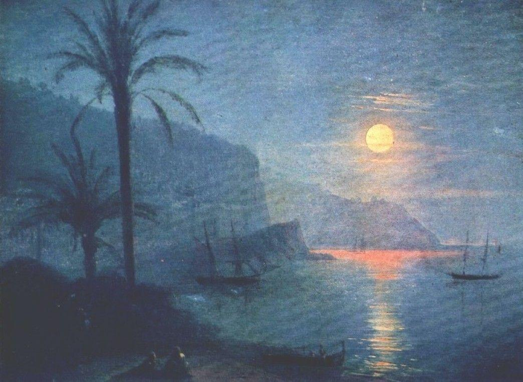 The Nice at night - Ivan Aivazovsky