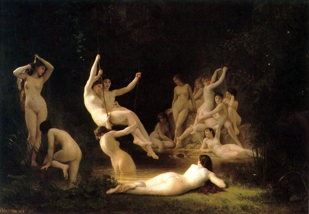 The Nymphaeum - William-Adolphe Bouguereau