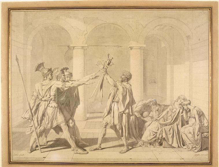 The Oath of the Horatii, according to David - Jean Auguste Dominique Ingres