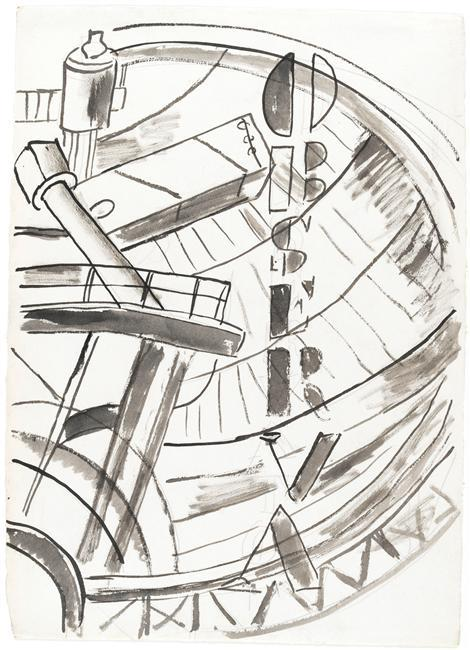 The Observatory, study for the City  - Fernand Leger