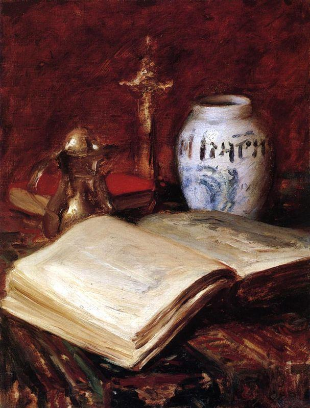 The Old Book - William Merritt Chase