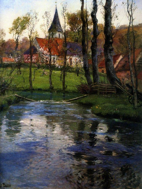 The Old Church by the River - Frits Thaulow