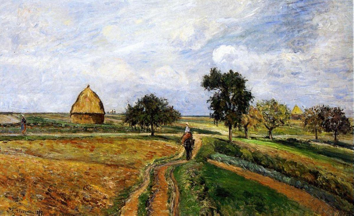The Old Ennery Road in Pontoise - Camille Pissarro