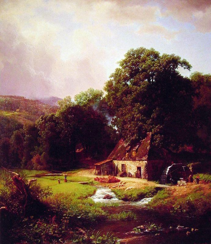 The Old Mill - Albert Bierstadt
