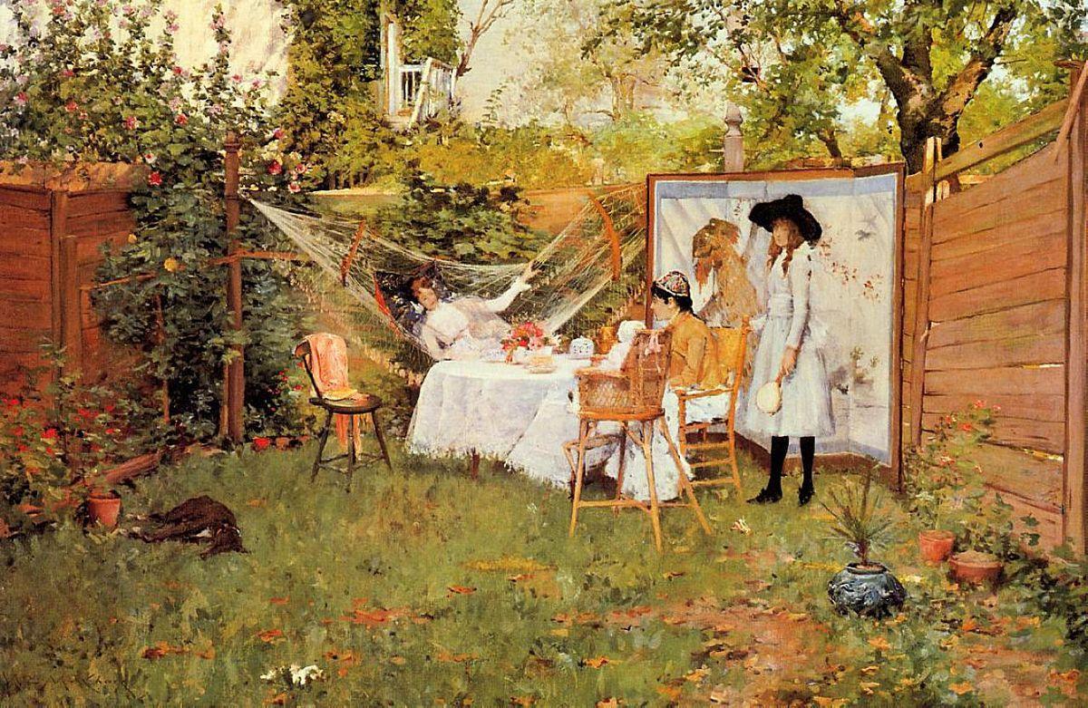 The Open Air Breakfast - William Merritt Chase