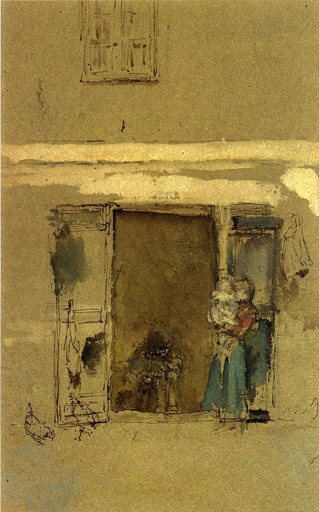 The open door - Henri Martin