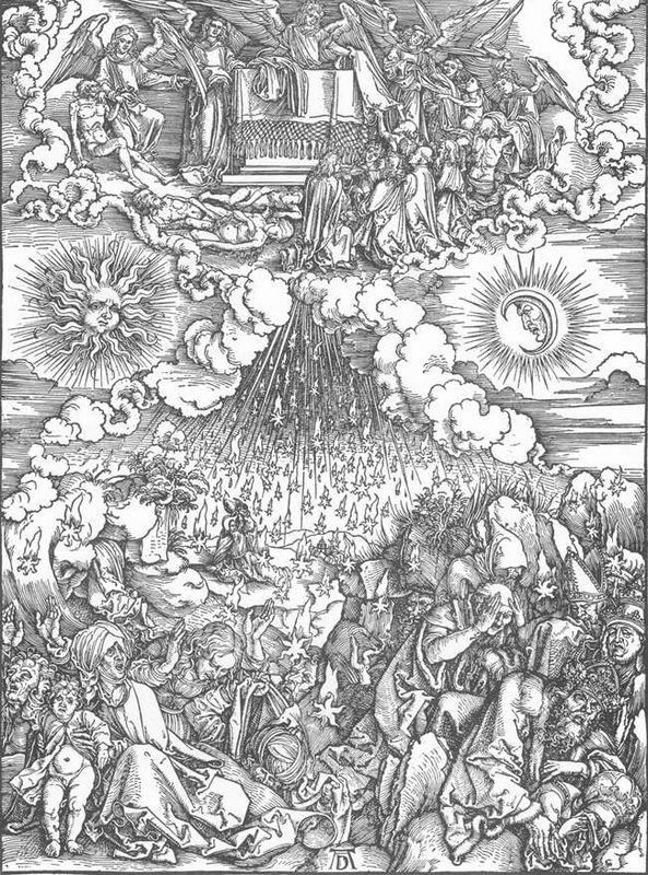 The Opening of the Fifth and Sixth Seals - Albrecht Durer