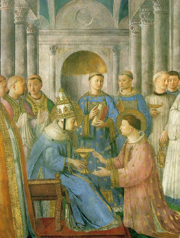 The ordination of St. Lawrence  - Fra Angelico