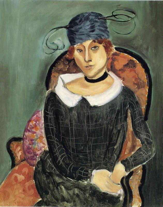 The Ostrich Feather Hat - Henri Matisse