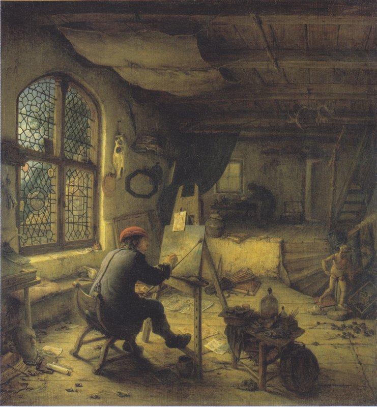 The Painter in His Workshop - Adriaen van Ostade
