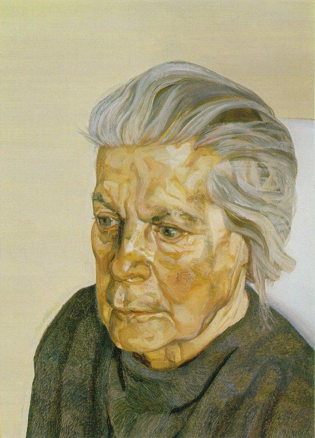 The Painter's Mother III - Lucian Freud