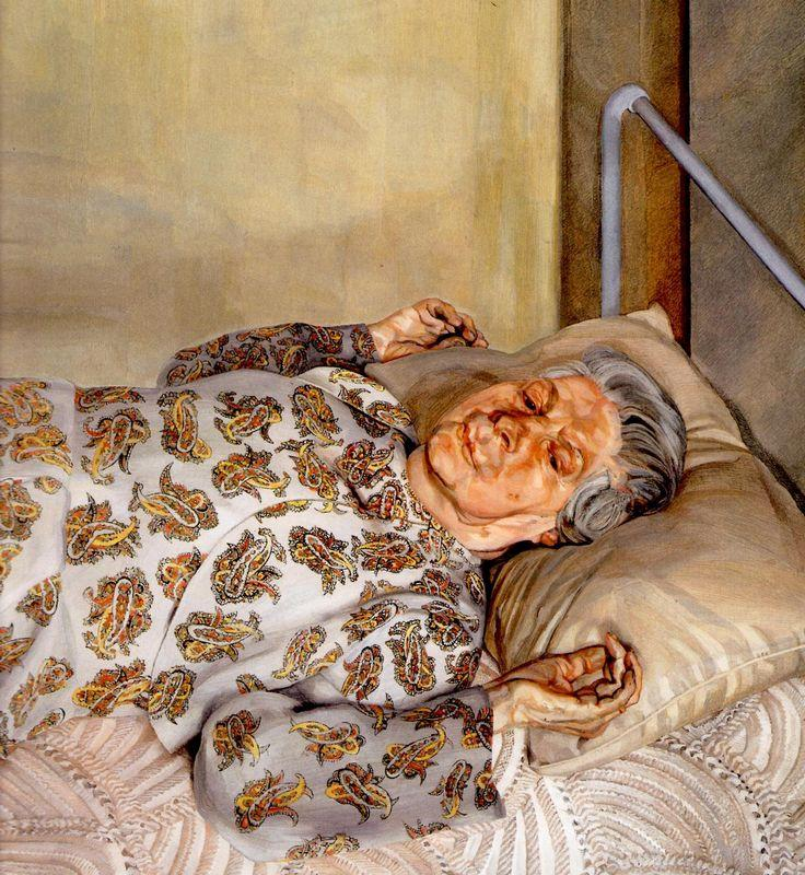 The Painter's Mother Resting I - Lucian Freud