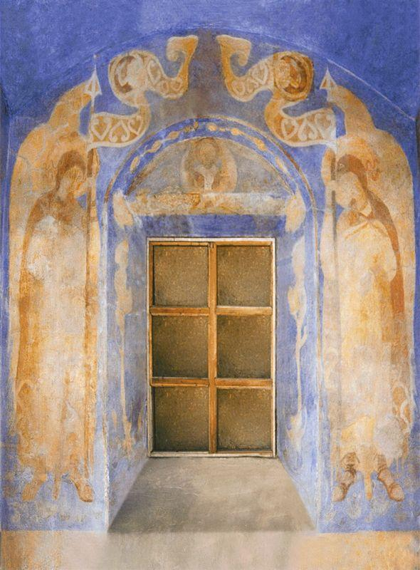 The painting of the western wall of the chapel of St. Anastasia - Nicholas Roerich