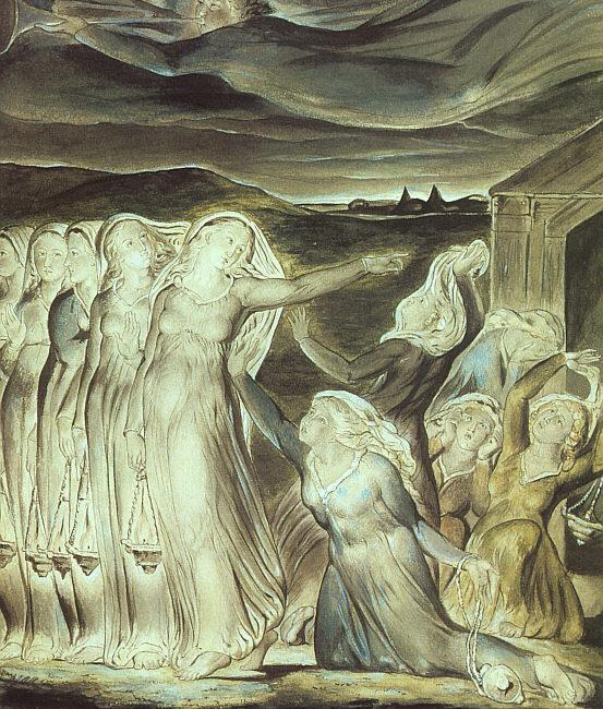 The parable of the wise and foolish virgins - William Blake