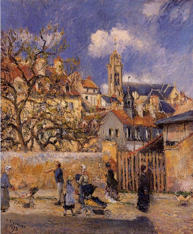 The Park in Charrettes, Pontoise - Camille Pissarro