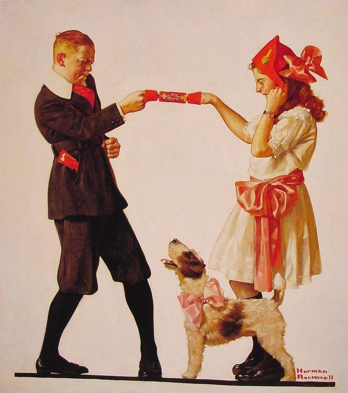 The Party Favour - Norman Rockwell