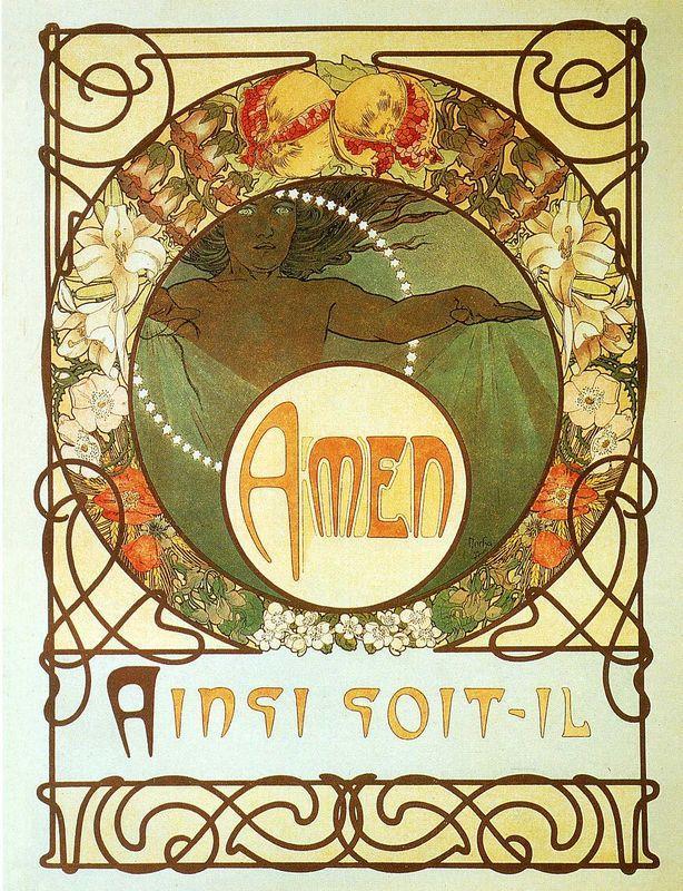 The Pater - Alphonse Mucha