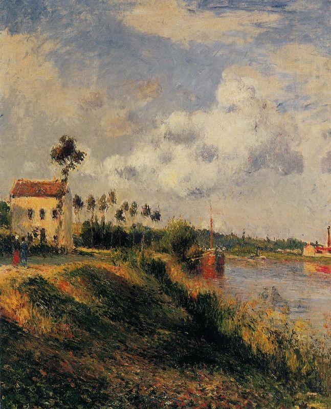 The Path from Halage, Pontoise - Camille Pissarro