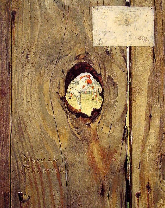 The Peephole - Norman Rockwell