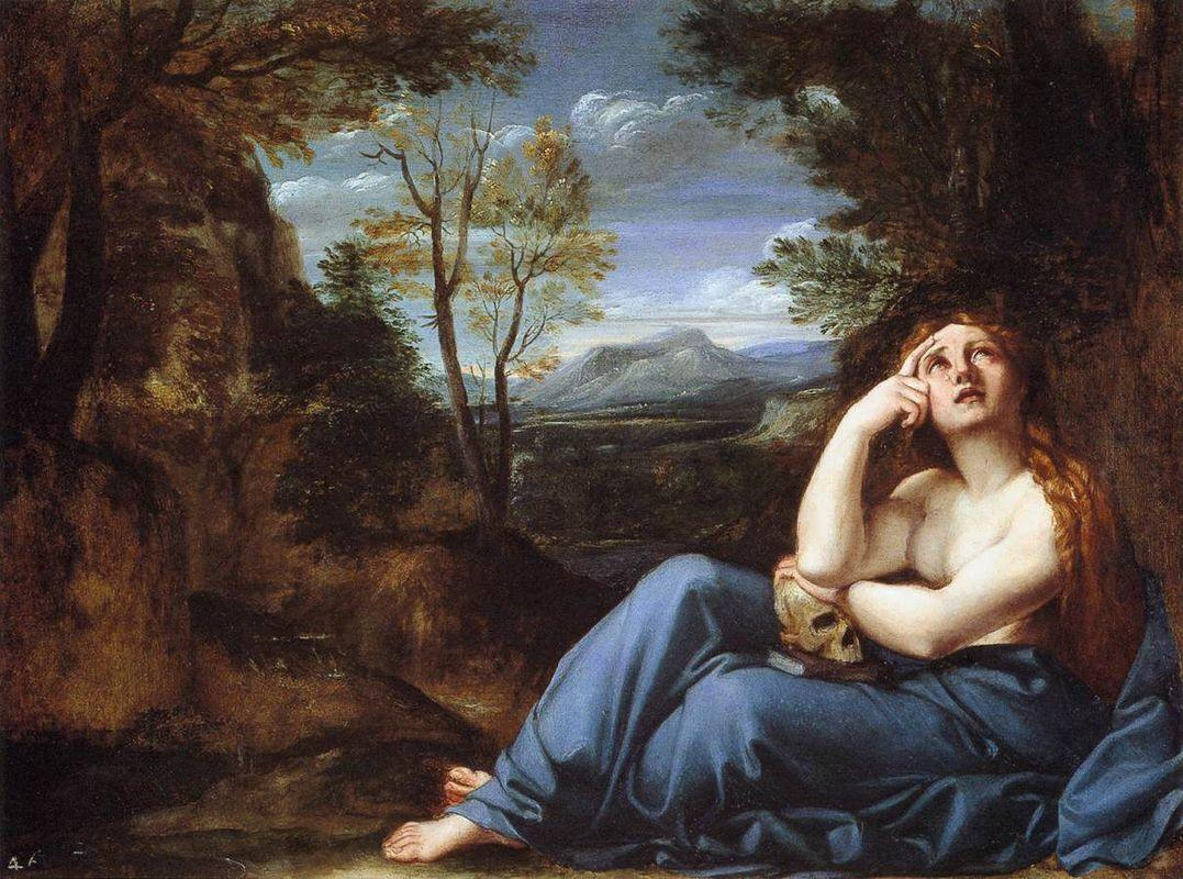 The Penitent Magdalen in a Landscape - Annibale Carracci