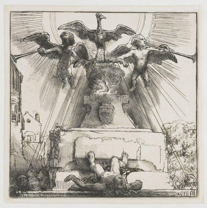 The phoenix or the statue overthrown - Rembrandt