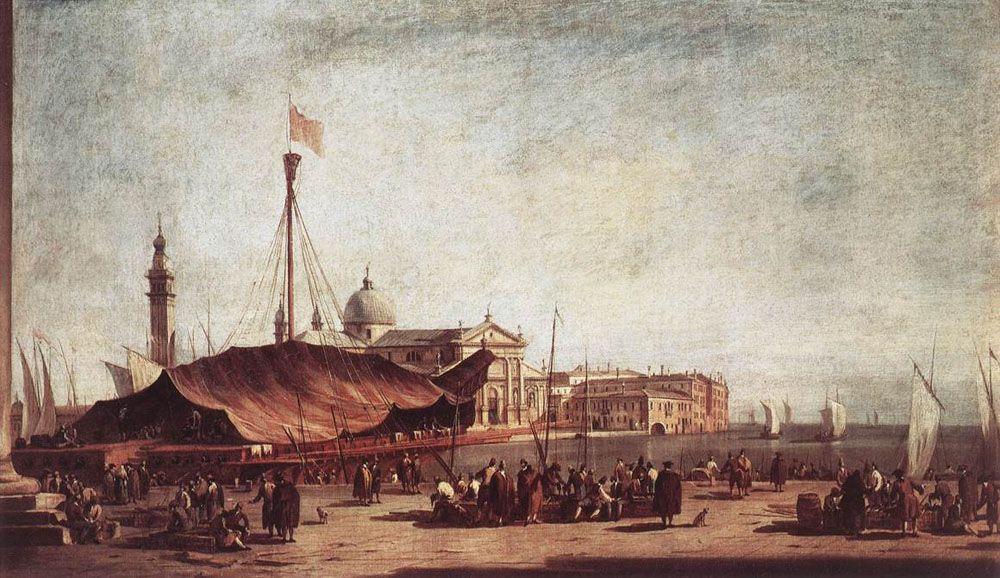 The Piazzetta, Looking toward San Giorgio Maggiore - Francesco Guardi