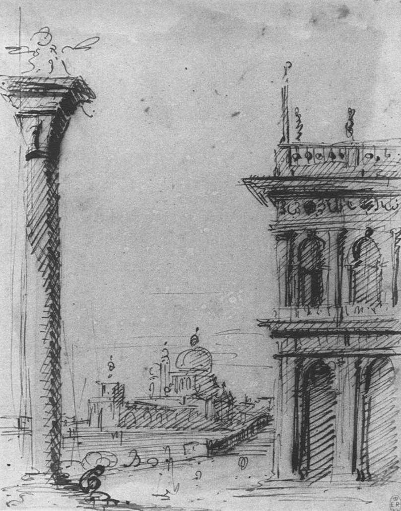 The Piazzetta Looking towards S. Maria della Salute - Canaletto