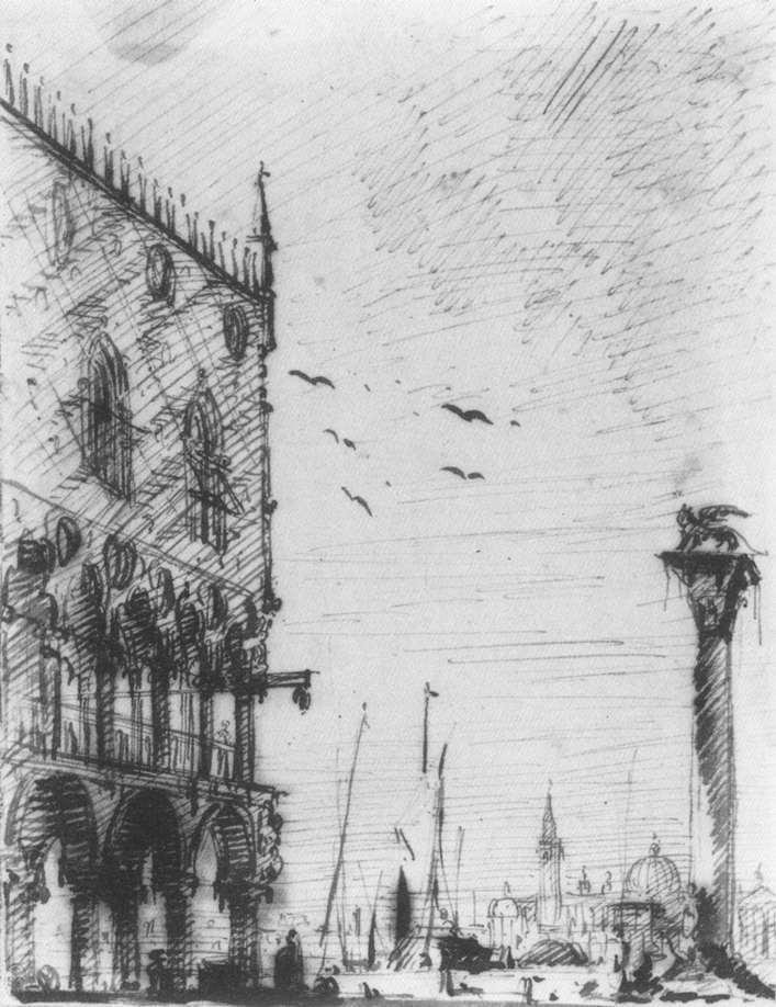 The Piazzetta to the South - Canaletto