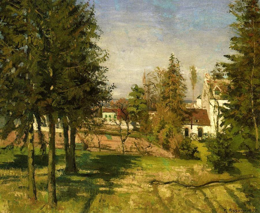 The Pine Trees of Louveciennes - Camille Pissarro