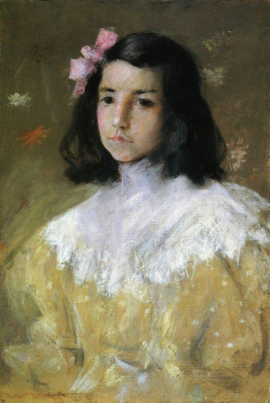 The Pink Bow - William Merritt Chase