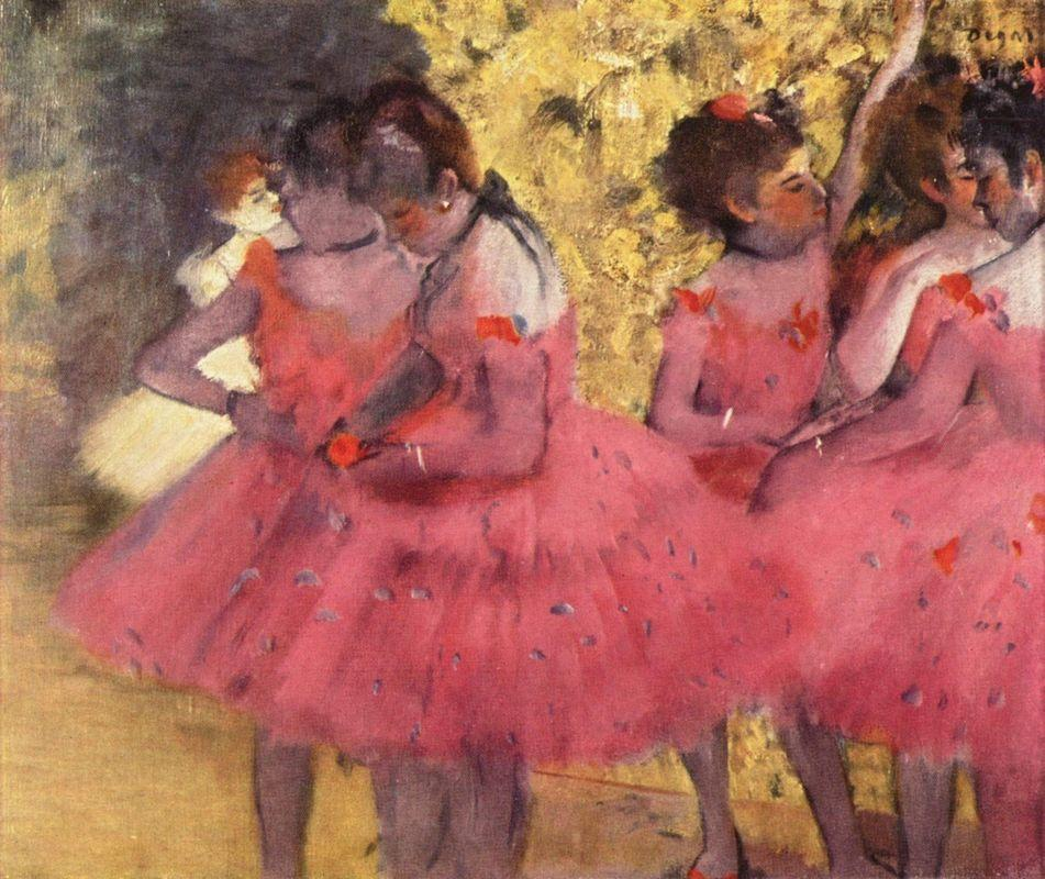 The Pink Dancers, Before the Ballet - Edgar Degas